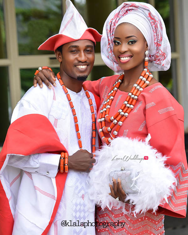 Nigerian Traditional Bride and Groom Dami and Bayo Klala Photography LoveweddingsNG