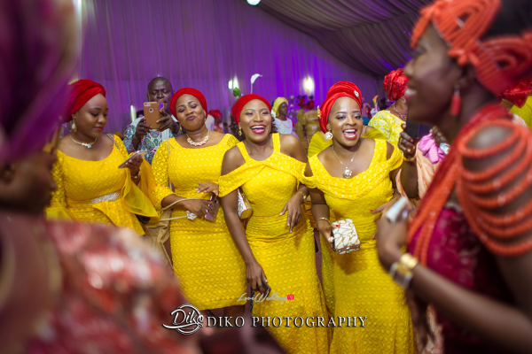 Nigerian Traditional Bride and asoebi ladies Tosin and Alhassan Diko Photography LoveWeddingsNG 2