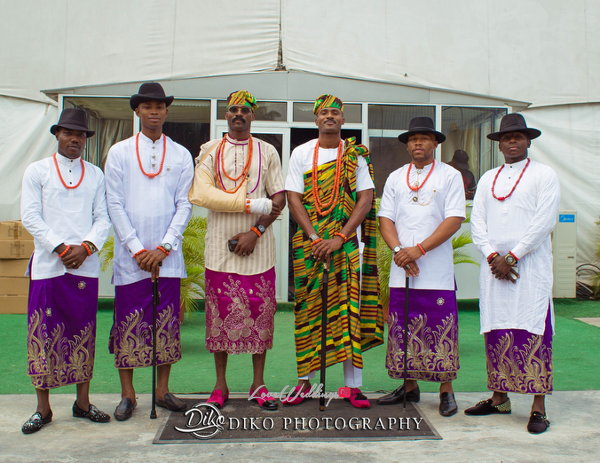 Nigerian Traditional Groom and friends Tosin and Alhassan Diko Photography LoveWeddingsNG