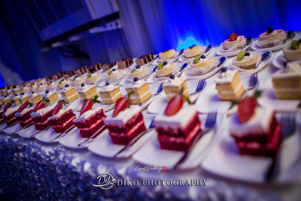 Nigerian Wedding Desserts Toyosi Ilupeju and Wole Makinwa WED Dream Wedding Details Diko Photography LoveWeddingsNG 1