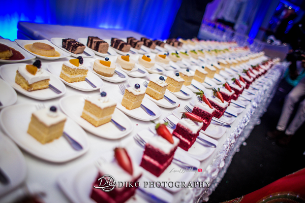 Nigerian Wedding Desserts Toyosi Ilupeju and Wole Makinwa WED Dream Wedding Details Diko Photography LoveWeddingsNG