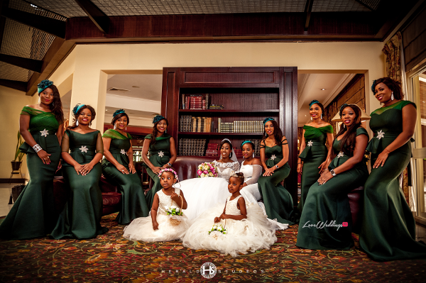 Nigerian bride and bridesmaids Tosin and Hassan Herald Studeos LoveWeddingsNG