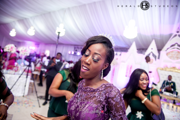 Nigerian bride dancing at reception Tosin and Hassan Herald Studeos LoveWeddingsNG