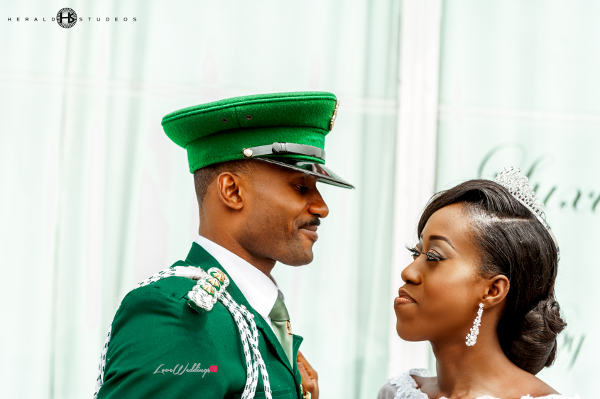 Nigerian military groom and bride Tosin and Hassan Herald Studeos LoveWeddingsNG