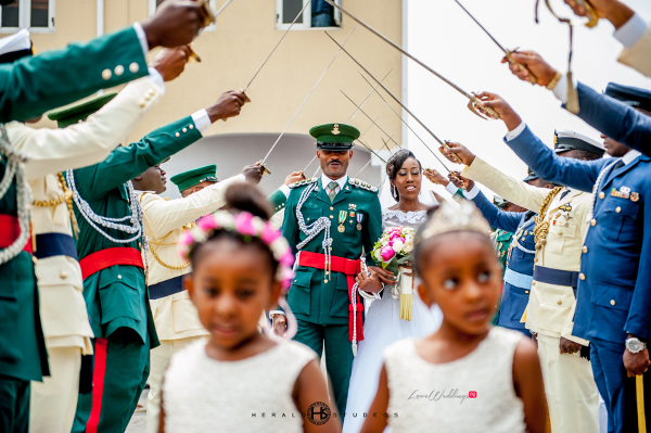Nigerian military wedding Tosin and Hassan Herald Studeos LoveWeddingsNG