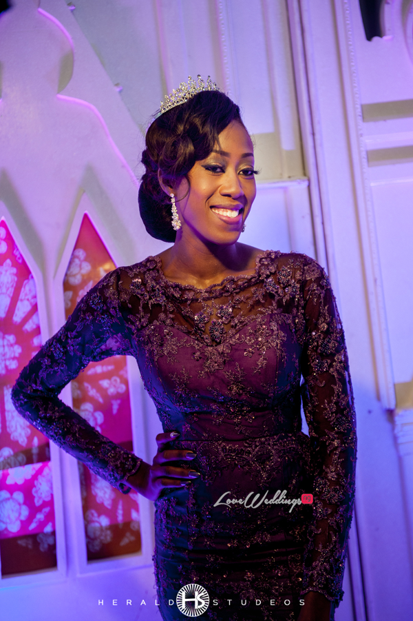Nigerian reception dress Tosin and Hassan Herald Studeos LoveWeddingsNG