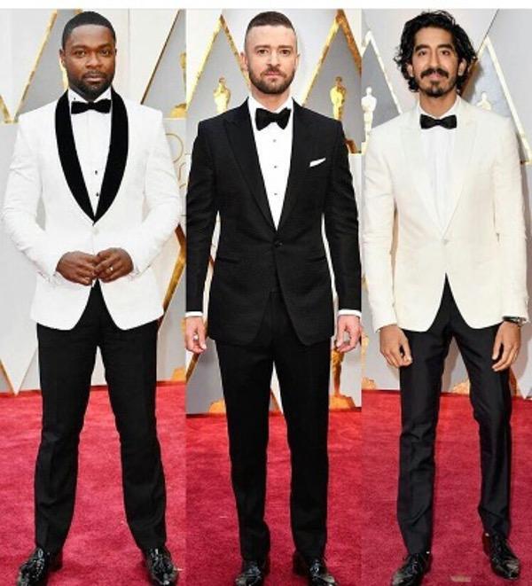 Oscars 2017 - David Oyelowo, Justin Timberlake, Dev Patel Groom Wedding Groom Style Inspiration LoveWeddingsNG