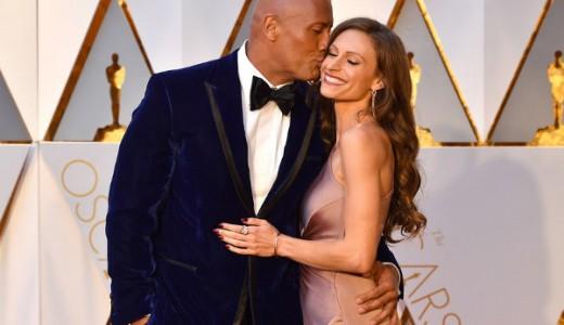 Oscars 2017 - Dwayne Johnson and Lauren Hashian Couple Inspiration LoveWeddingsNG