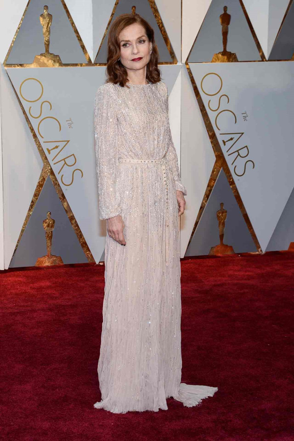 Oscars 2017 - Isabelle Huppert in Armani Prive Bridal Inspiration LoveWeddingsNG