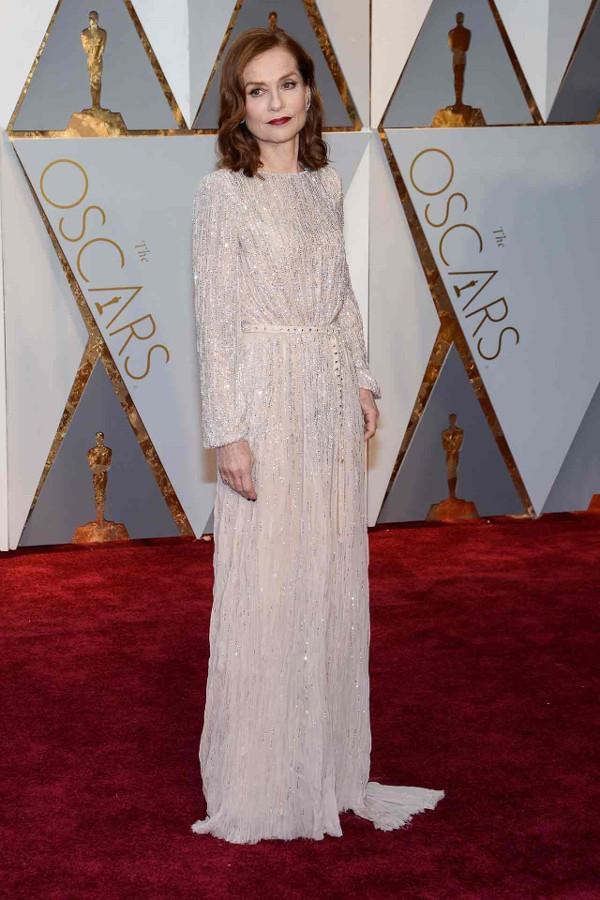 Oscars 2017 - Isabelle Huppert in Armani Prive Bridal Inspiration LoveWeddingsNG