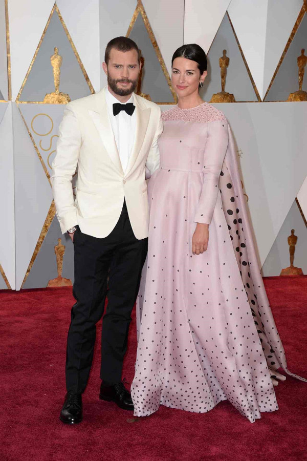 Oscars 2017 - Jamie Dornan and his wife Amelia Warner in Emilia Wickstead LoveWeddingsNG