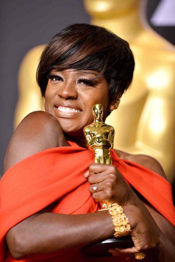 Oscars 2017 - Viola Davis Bridal Hair Inspiration LoveWeddingsNG