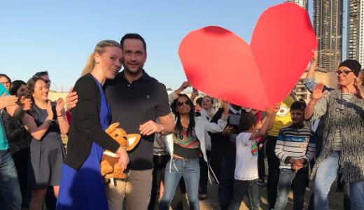 Surprise Flashmob Proposal My Wedding Dubai Emaar Hospitality Group LoveWeddingsNG