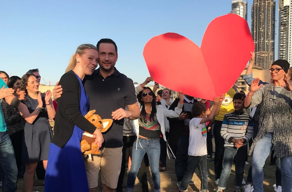 Surprise Flashmob Proposal My Wedding Dubai Emaar Hospitality Group LoveWeddingsNG