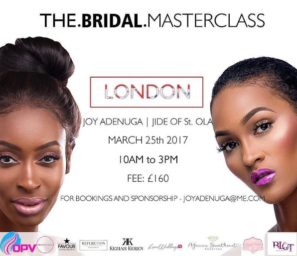 The Bridal Masterclass London Joy Adenuga Jide of St Ola LoveWeddingsNG
