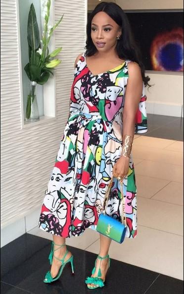 Toke Makinwa Nigerian Wedding Guest Style Inspiration LoveWeddingsNG 1