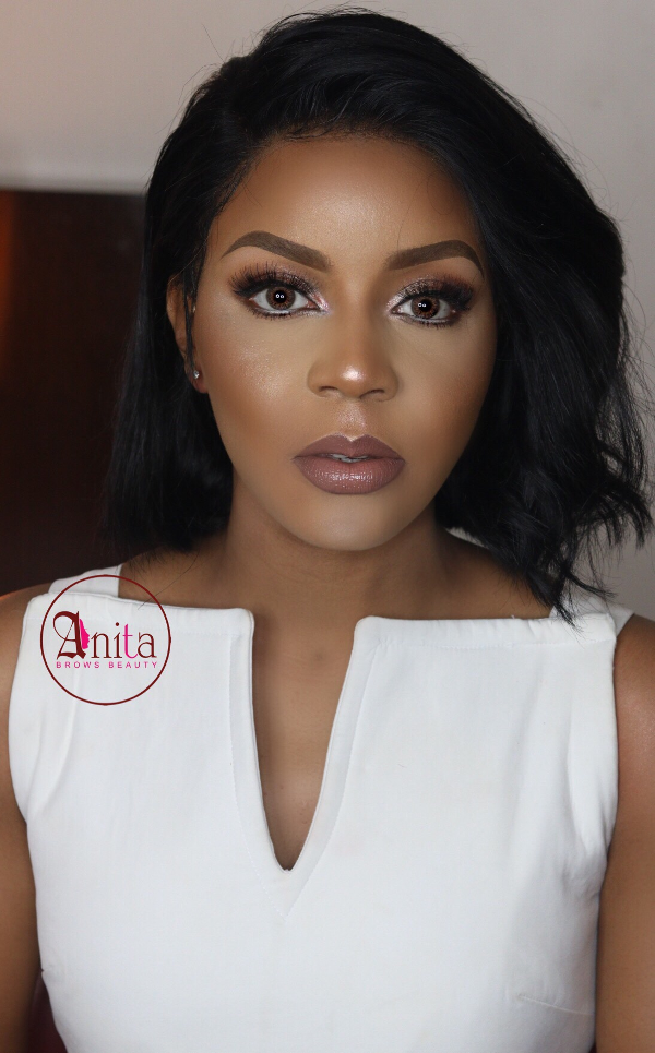 AMVCA 2017 - Lola OJ Bridal Beauty Look Anitas Brows Africa Magic Viewers Choice Awards 2017 LoveWeddingsNG