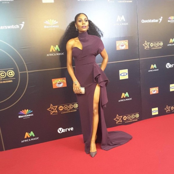 AMVCA 2017 - Somkele Idhalama Africa Magic Viewers Choice Awards 2017 LoveWeddingsNG