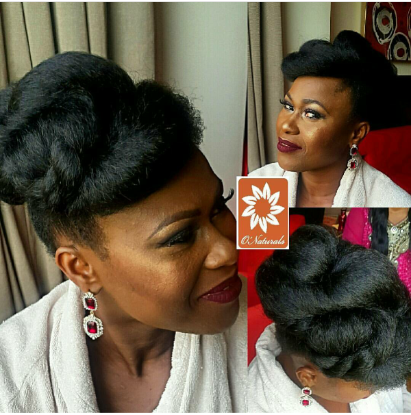 AMVCA 2017 - Uche Jombo Rodrigues by Onaturals Bridal Hair Look Africa Magic Viewers Choice Awards 2017 LoveWeddingsNG