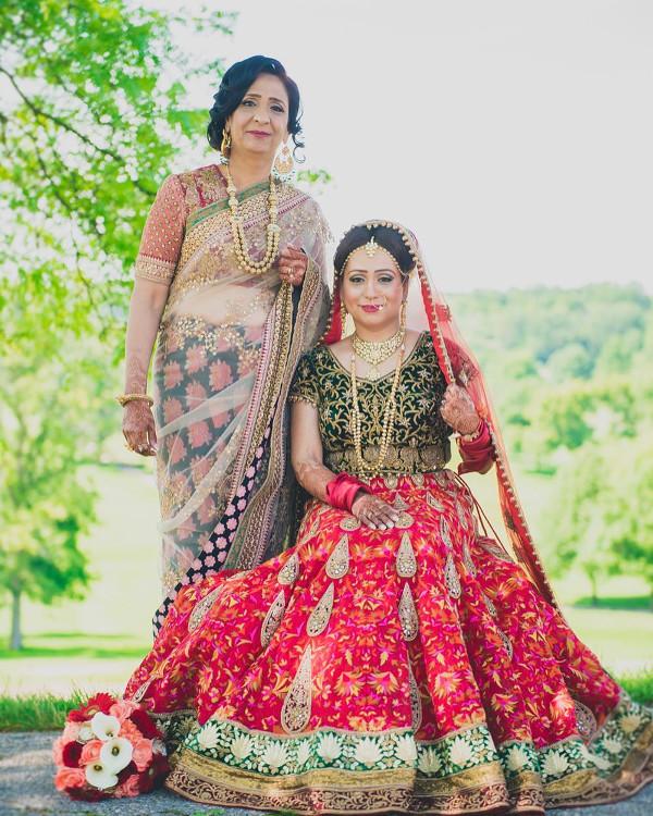 Indian bride and mum LoveWeddingsNG.jp