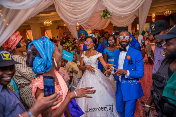 Nigerian Bride and Groom Adetola Adeleke and Olapemi Awolola LoveWeddingsNG 1