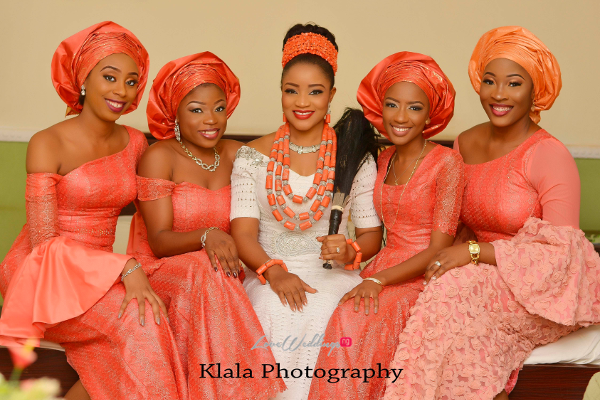 Nigerian Bride and friends Ifeyinwa and ChidiTraditional Wedding Klala Photography LoveWeddingsNG