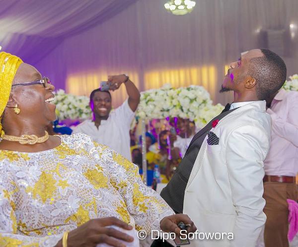 Nigerian Groom and Mum dancing LoveWeddingsNG