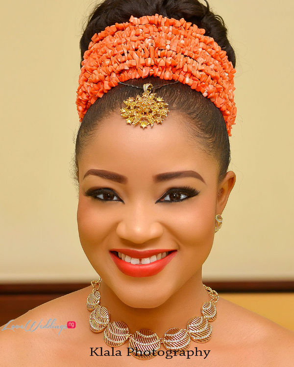 Nigerian Traditional Bridal Makeup Ifeyinwa and Chidi Klala Photography LoveWeddingsNG 1