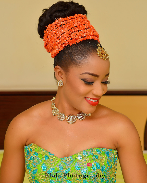 Nigerian Traditional Bridal Makeup Ifeyinwa and Chidi Klala Photography LoveWeddingsNG 2