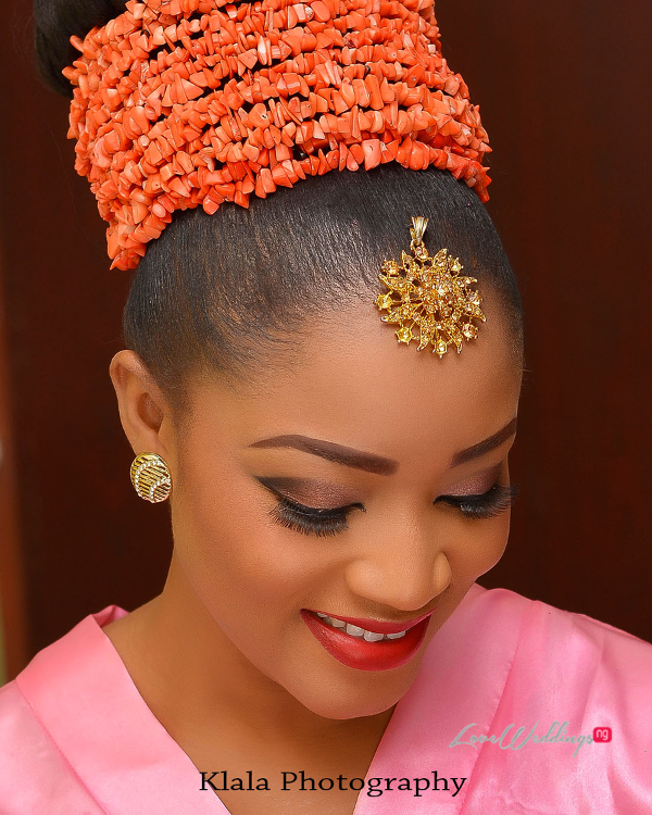 Nigerian Traditional Bridal Makeup Ifeyinwa and Chidi Klala Photography LoveWeddingsNG 4
