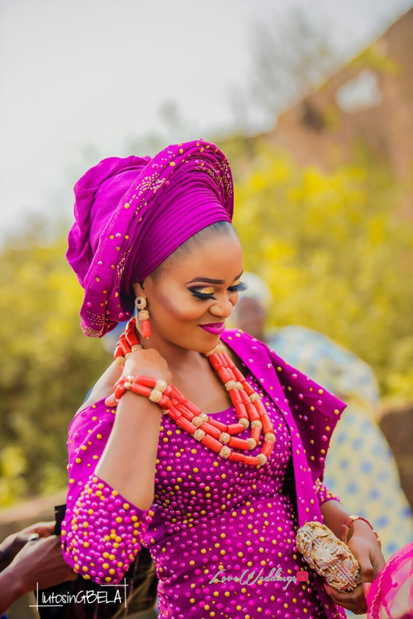 Nigerian Traditional Bride Adetola Adeleke and Olapemi Awolola LoveWeddingsNG
