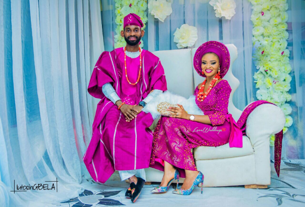 Nigerian Traditional Bride and Groom Adetola Adeleke and Olapemi Awolola LoveWeddingsNG