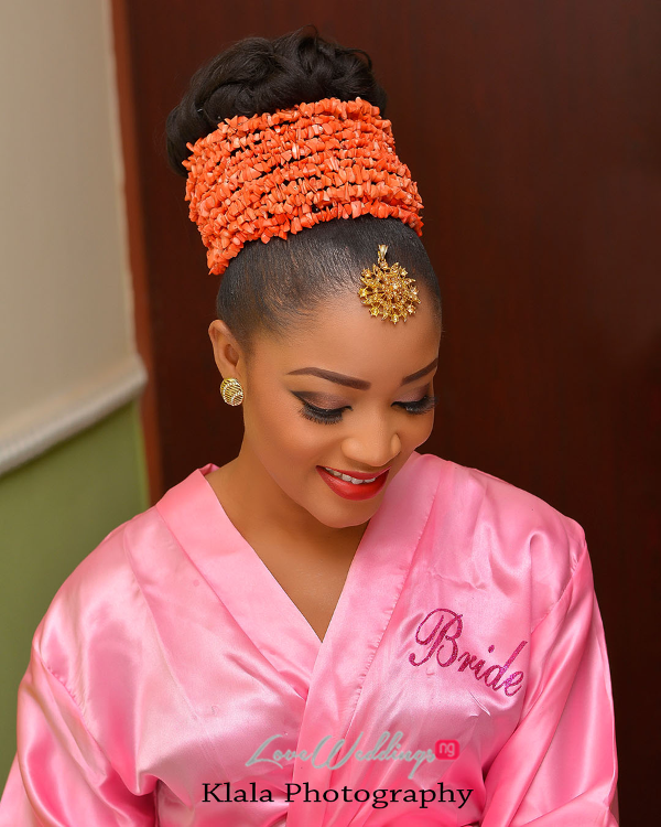 Nigerian Traditional Bride in robe Ifeyinwa and Chidi Klala Photography LoveWeddingsNG