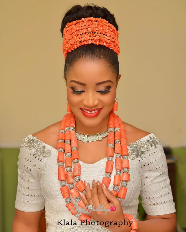 Nigerian Traditional Igbo Bridal Makeup Ifeyinwa and Chidi Klala Photography LoveWeddingsNG