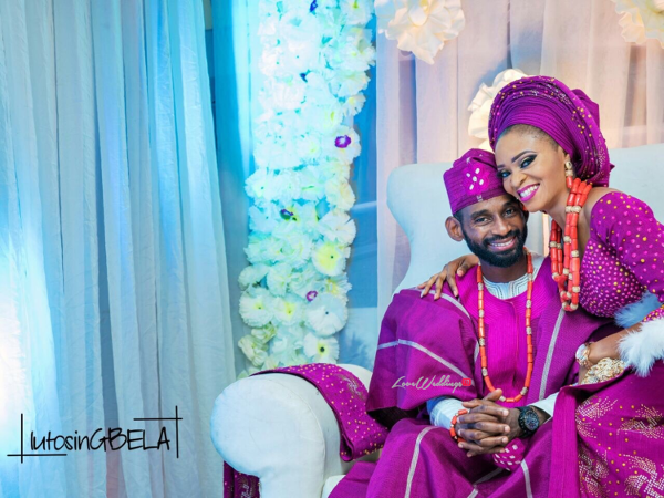 Nigerian Traditional Wedding Bride and Groom Adetola Adeleke and Olapemi Awolola LoveWeddingsNG