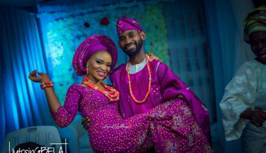 Nigerian Traditional Wedding Igbeyawo Bride and Groom Adetola Adeleke and Olapemi Awolola LoveWeddingsNG