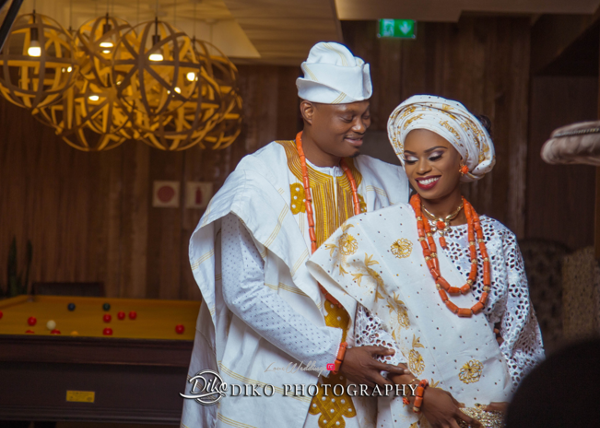 Nigerian Tradtional Bride and Groom Omolade and Adekunle Diko Photography LoveWeddingsNG 2