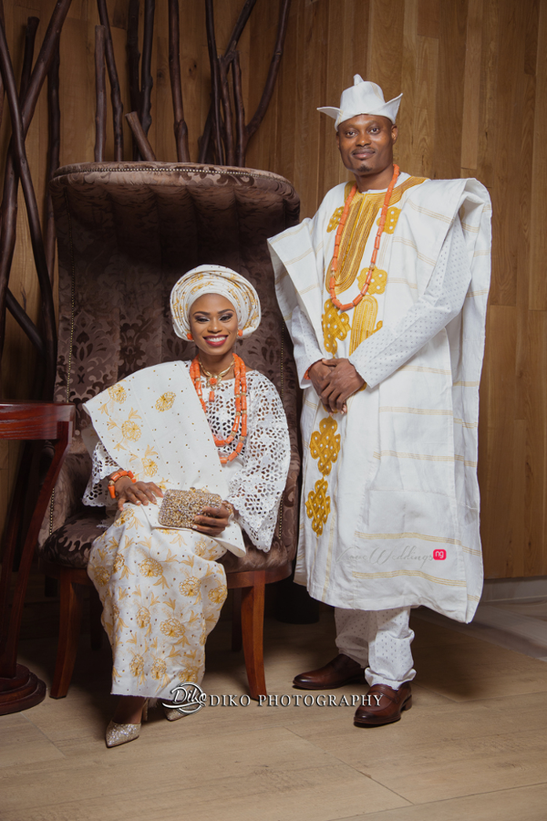 Nigerian Tradtional Bride and Groom Omolade and Adekunle Diko Photography LoveWeddingsNG 4