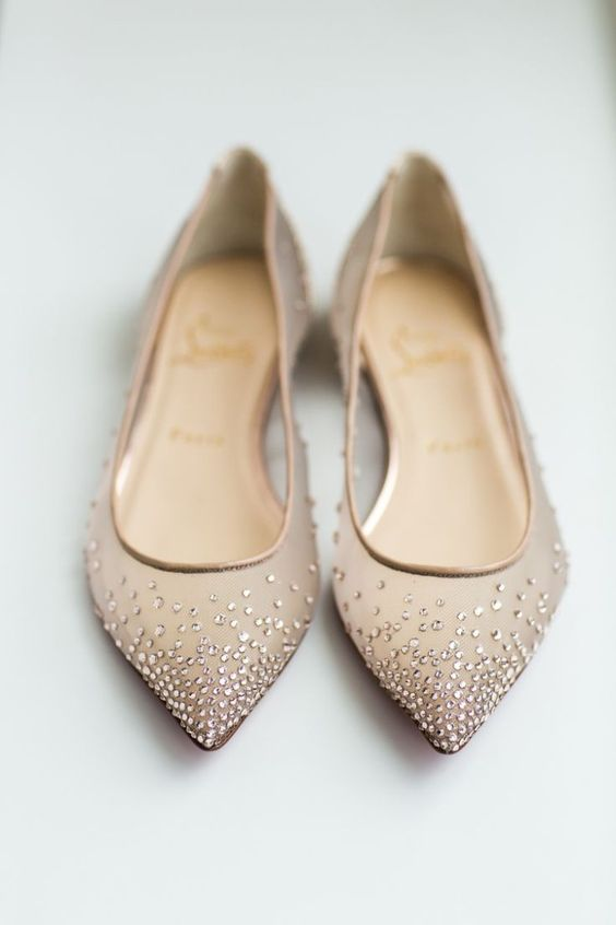 Nigerian Wedding Bridal Shoes Louboutin flats LoveWeddingsNG