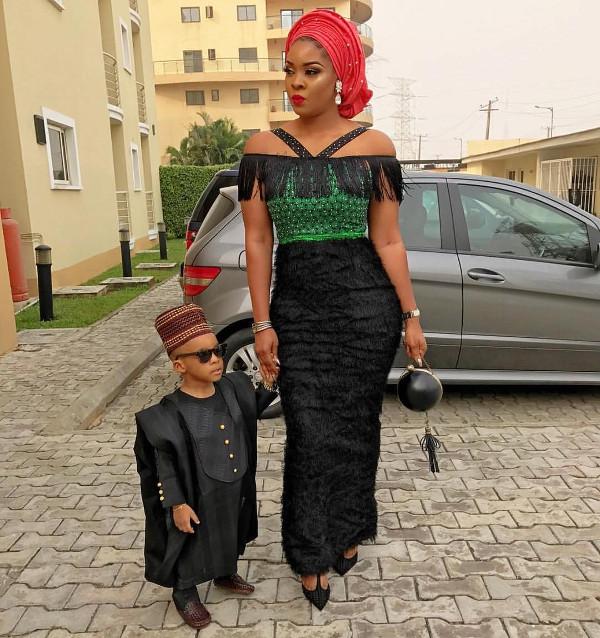 Nigerian Wedding Guest Mum and son LoveWeddingsNG