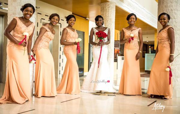 Gambian Bride and Bridesmaids Fatou and Obinna Ifedi #FOBI17 2706 Events LoveWeddingsNG