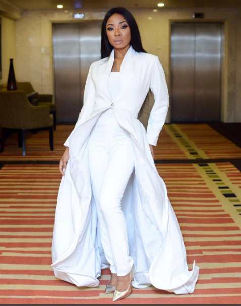 Mo Cheddah in pantsuit Mo Cheddah.co Nigerian Wedding Guest Inspiration LoveWeddingsNG