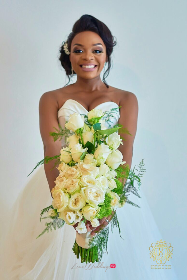 Nigerian Bride and Bouquet Wanni Fuga and Sam Wabara LoveWeddingsNG 1
