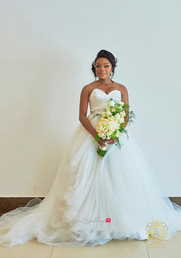 Nigerian Bride and Bouquet Wanni Fuga and Sam Wabara LoveWeddingsNG