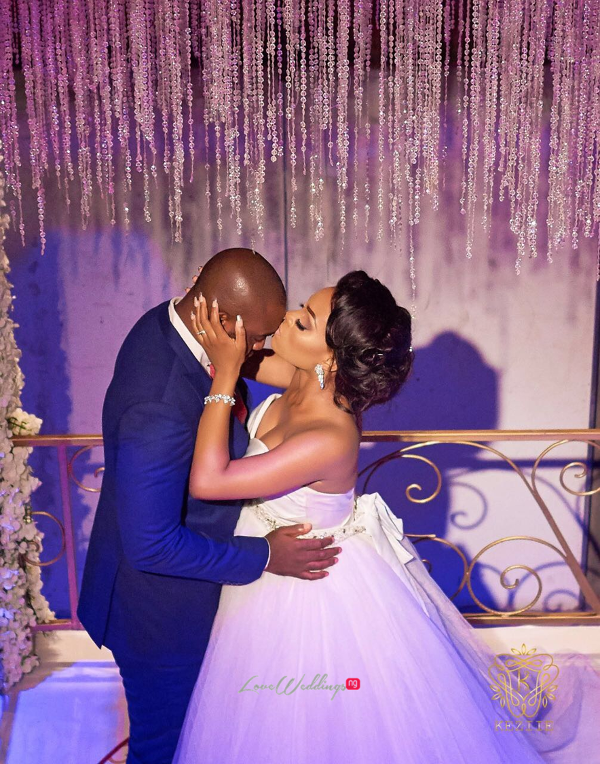 Nigerian Bride and Groom Kiss Wanni Fuga and Sam Wabara LoveWeddingsNG