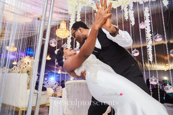 Nigerian Bride and Groom Seno and Patrick First Dance Sculptors Events LoveWeddingsNG 3
