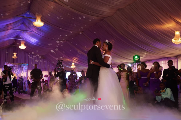 Nigerian Bride and Groom Seno and Patrick First Dance Sculptors Events LoveWeddingsNG