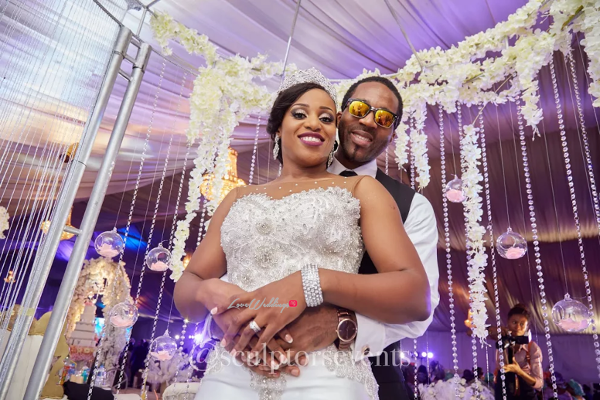 Nigerian Bride and Groom Seno and Patrick Reception Sculptors Events LoveWeddingsNG 3