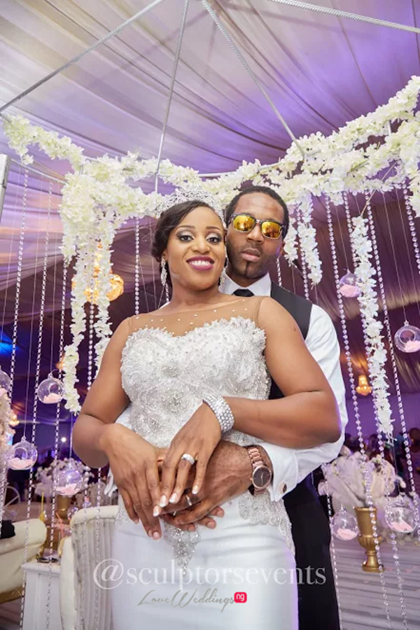 Nigerian Bride and Groom Seno and Patrick Sculptors Events LoveWeddingsNG 3