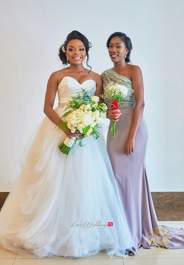 Nigerian Bride and Maid of Honour Wanni Fuga and Sam Wabara LoveWeddingsNG